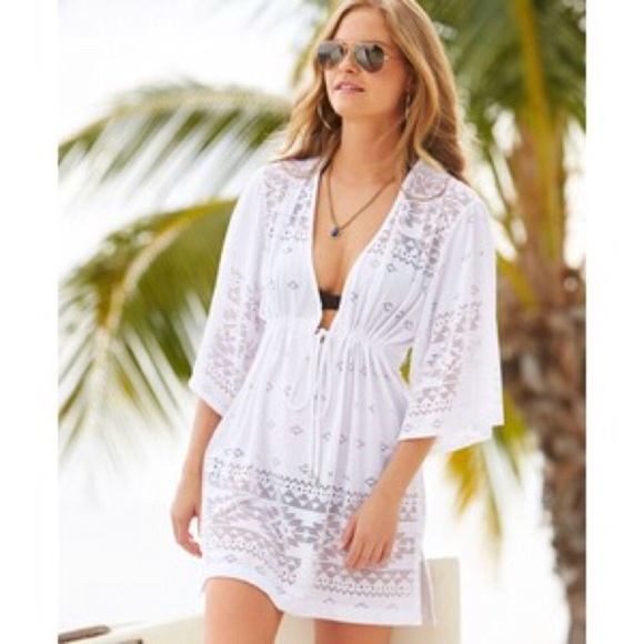 bdc806e0a80 Dotti Swim | List White Laser Cut Kimono Coverup New | Poshmark